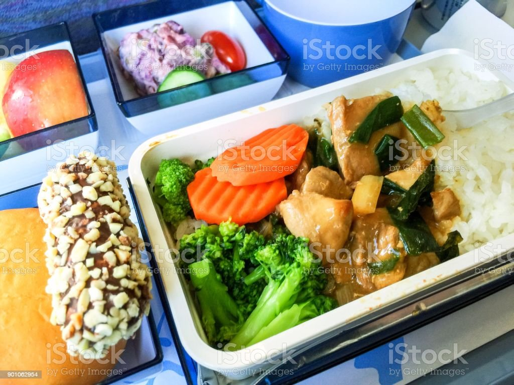 Airline meal stock photo