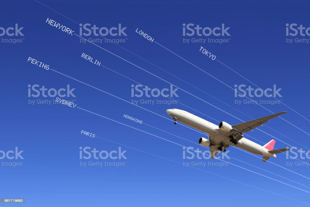 Airline stock photo