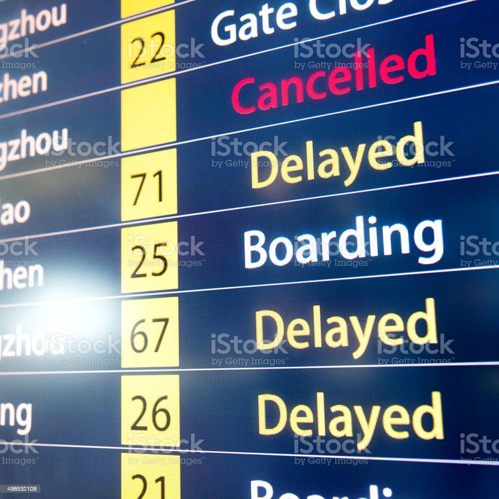 Airline Zeitplan Monitoren Lizenzfreies stock-foto