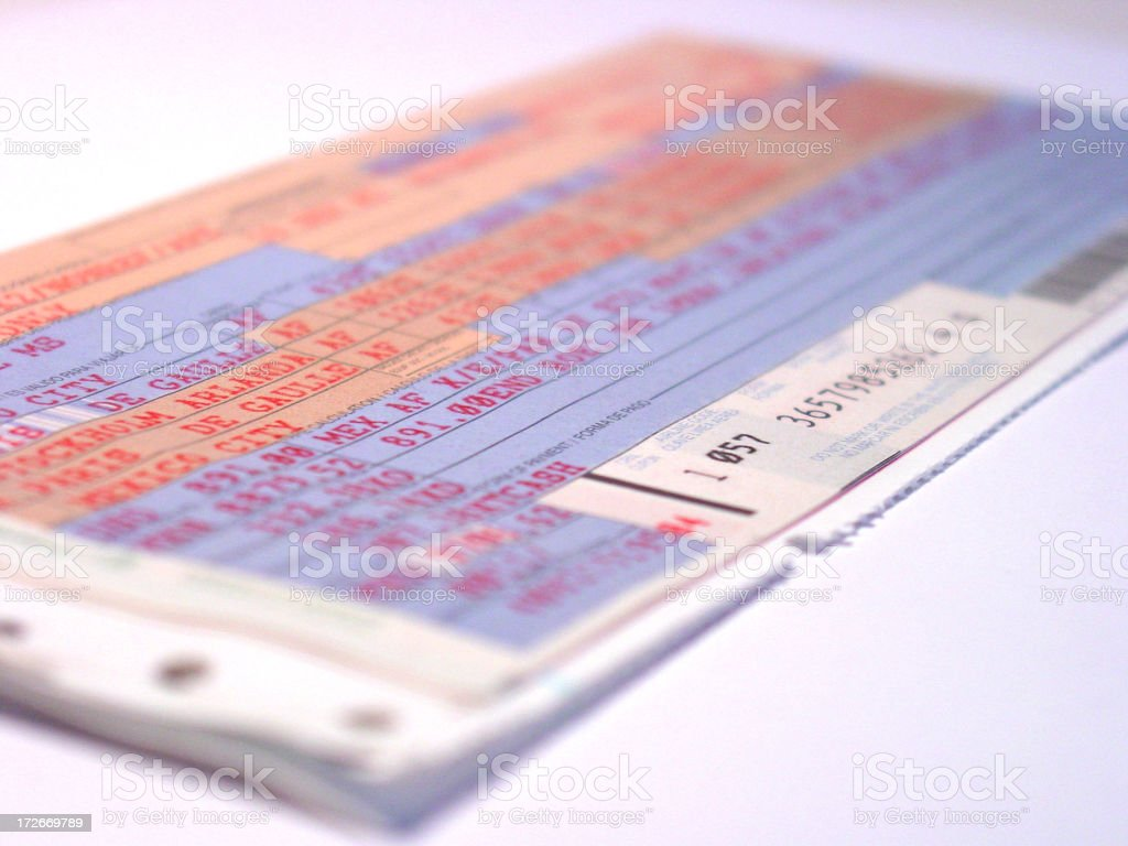 airline ticket 2 royalty-free stock photo