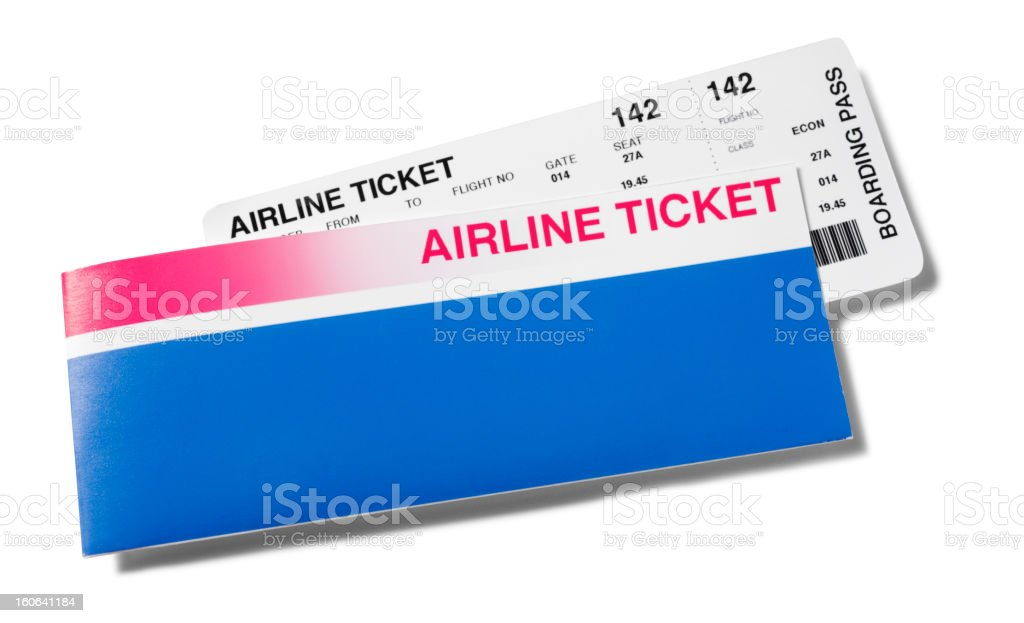 Airline Ticket royalty-free stock photo