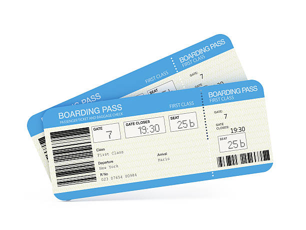 airline tickets - ticket stock photos and pictures