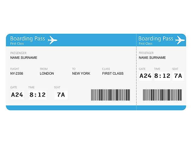 airline tickets - aeroplane ticket stock photos and pictures