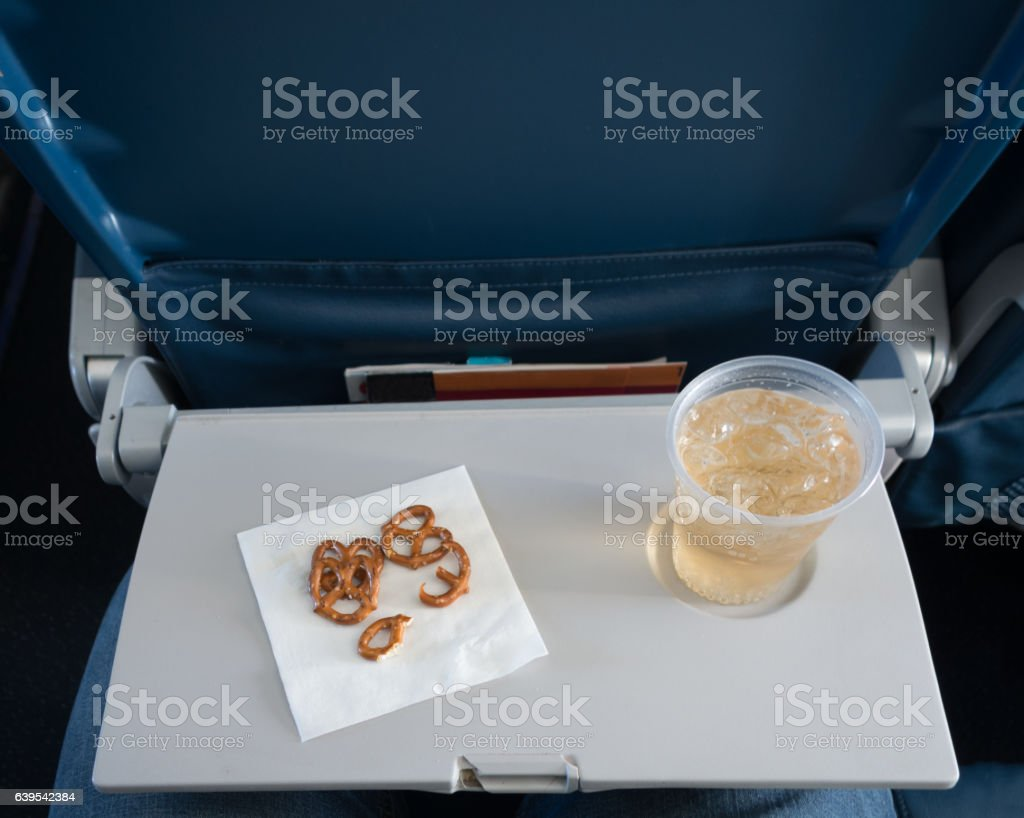 Airline Travel - Economy Class stock photo