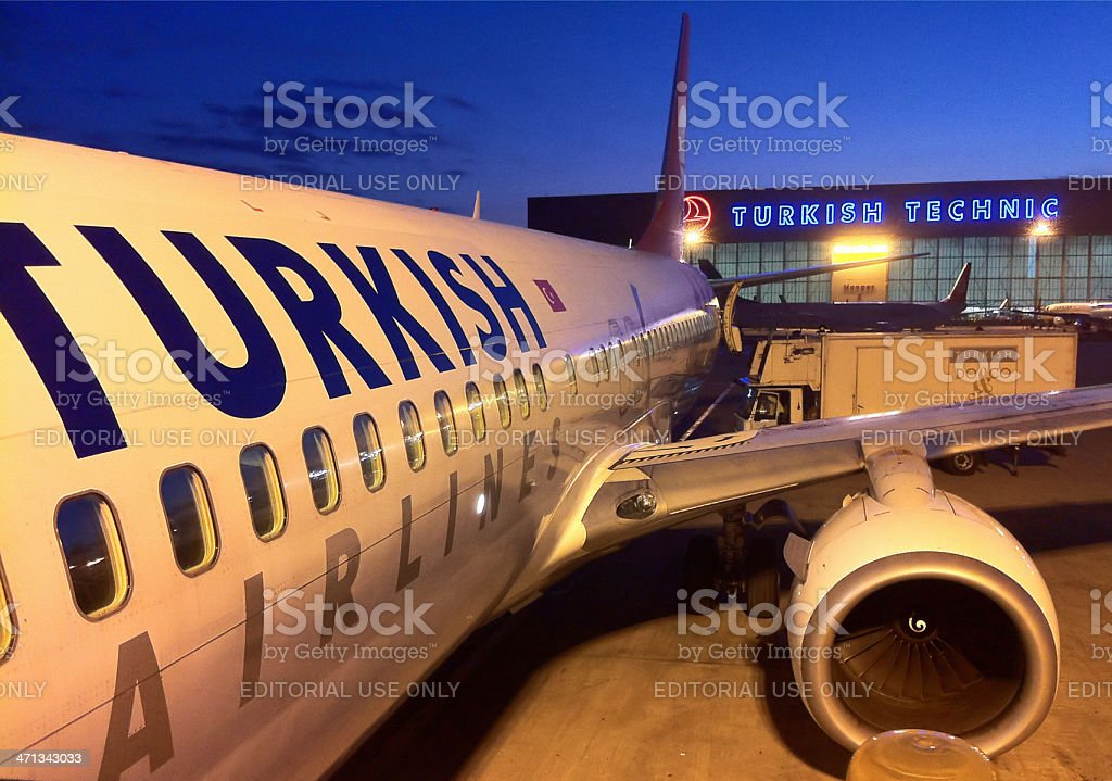 Airline Travel, Istanbul, Turkey stock photo