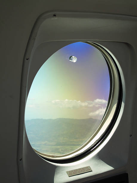 Airline Window View stock photo