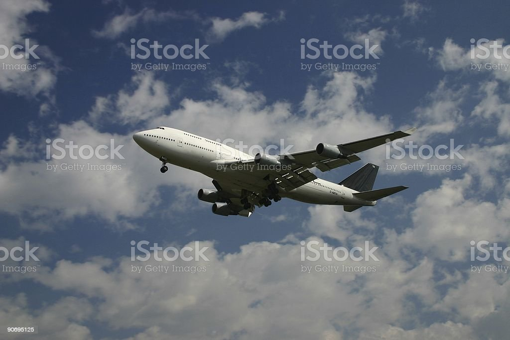 Airliner Boeing 747 royalty-free stock photo
