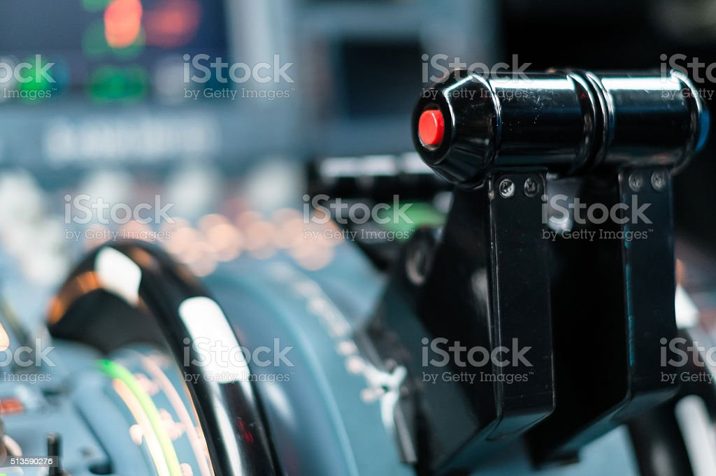 Airliner cockpit stock photo