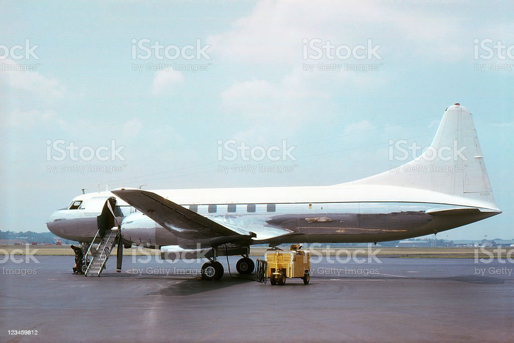 airliner Convair CV240 1965, retro stock photo