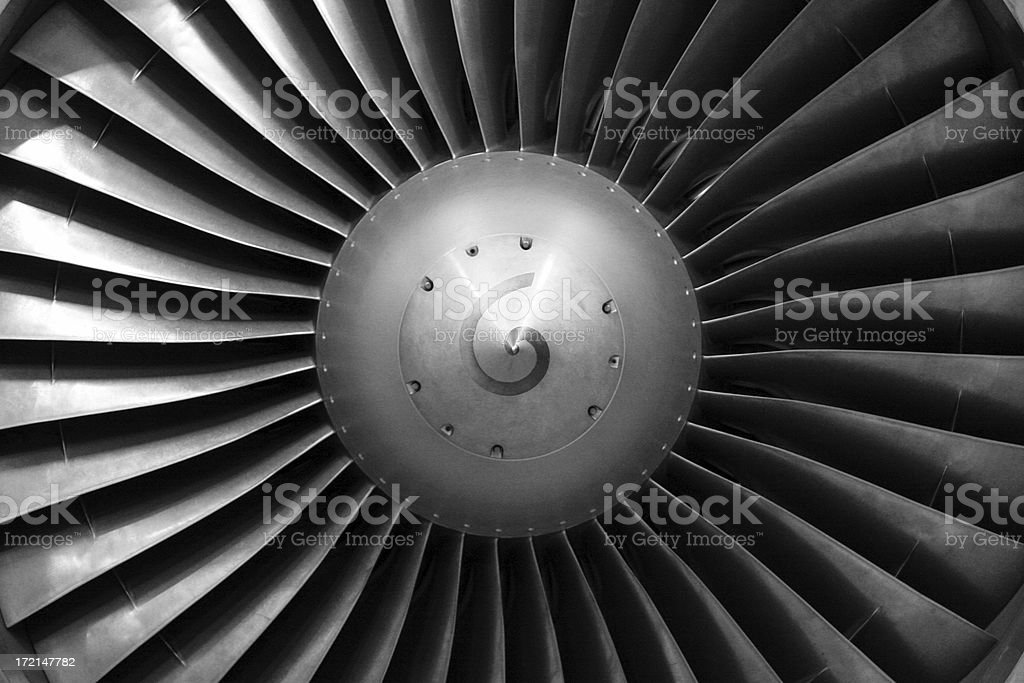 Airliner engine fan stock photo