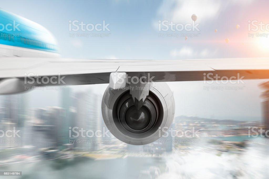 高空客機。混合媒體 免版稅 stock photo