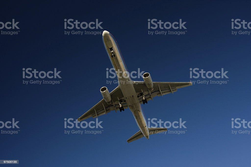 Airliner in Flight royalty-free stock photo