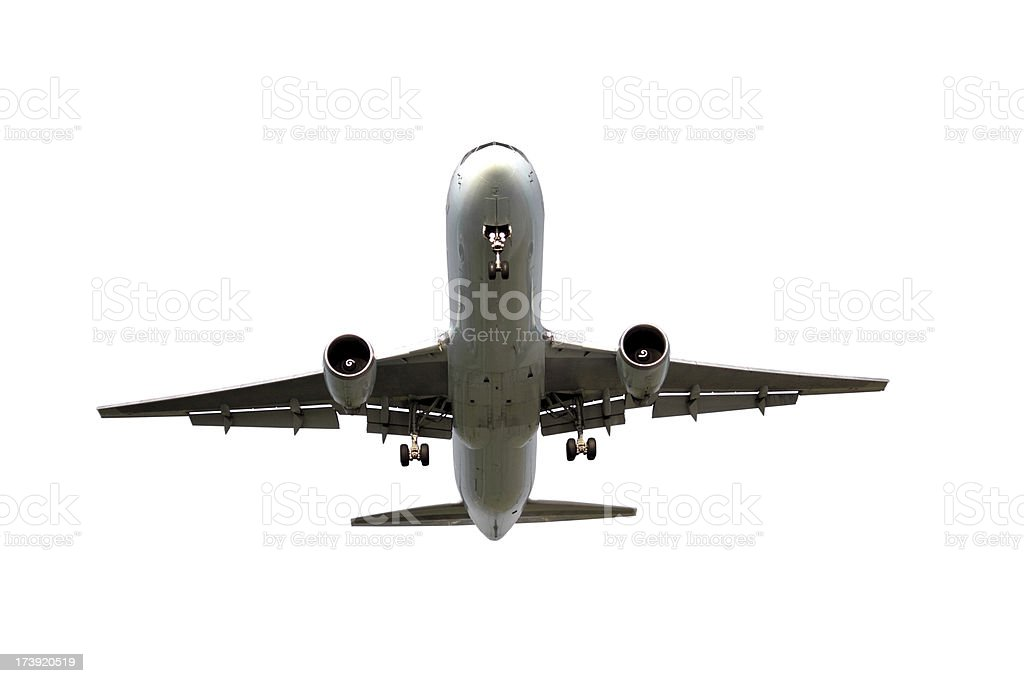 Airliner Isolated stock photo