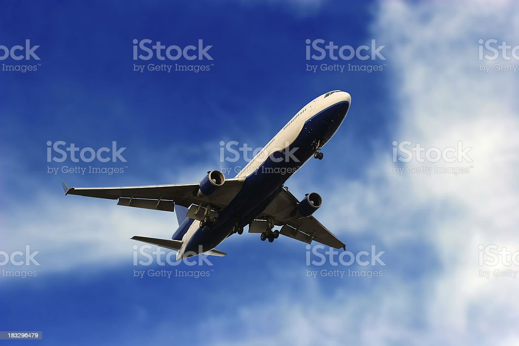 Airliner landing royalty-free stock photo