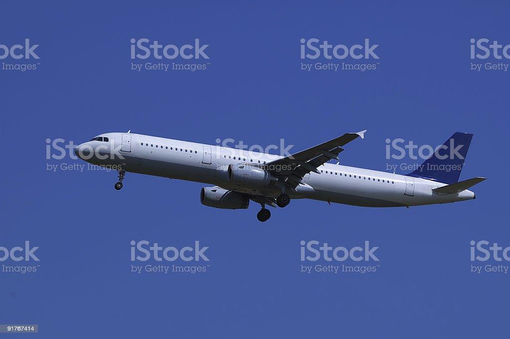 Airliner landing stock photo