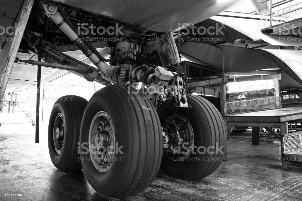 Airliner main gear royalty-free stock photo