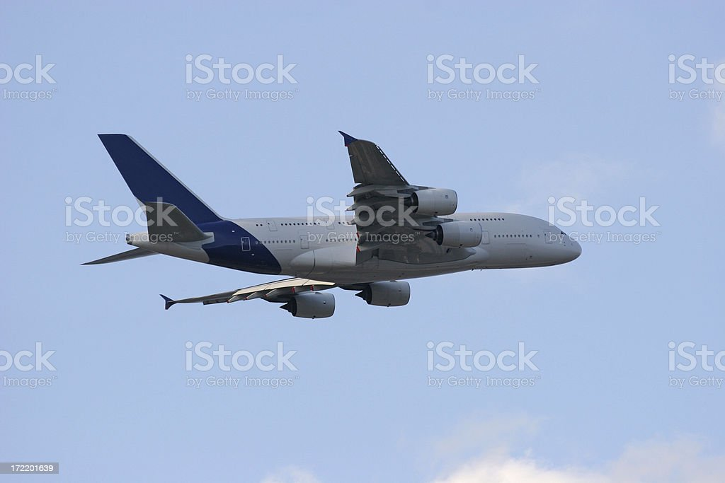 Airliner taking off royalty-free stock photo