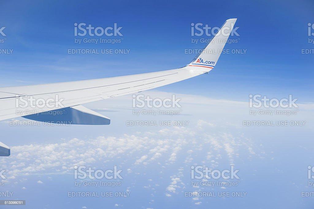 Estreito wing com AA.com do insignia. - foto de acervo