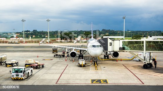 istock TAM Airlines Airbus 320 Parked at Airport in Brasilia, Brazil 504330676