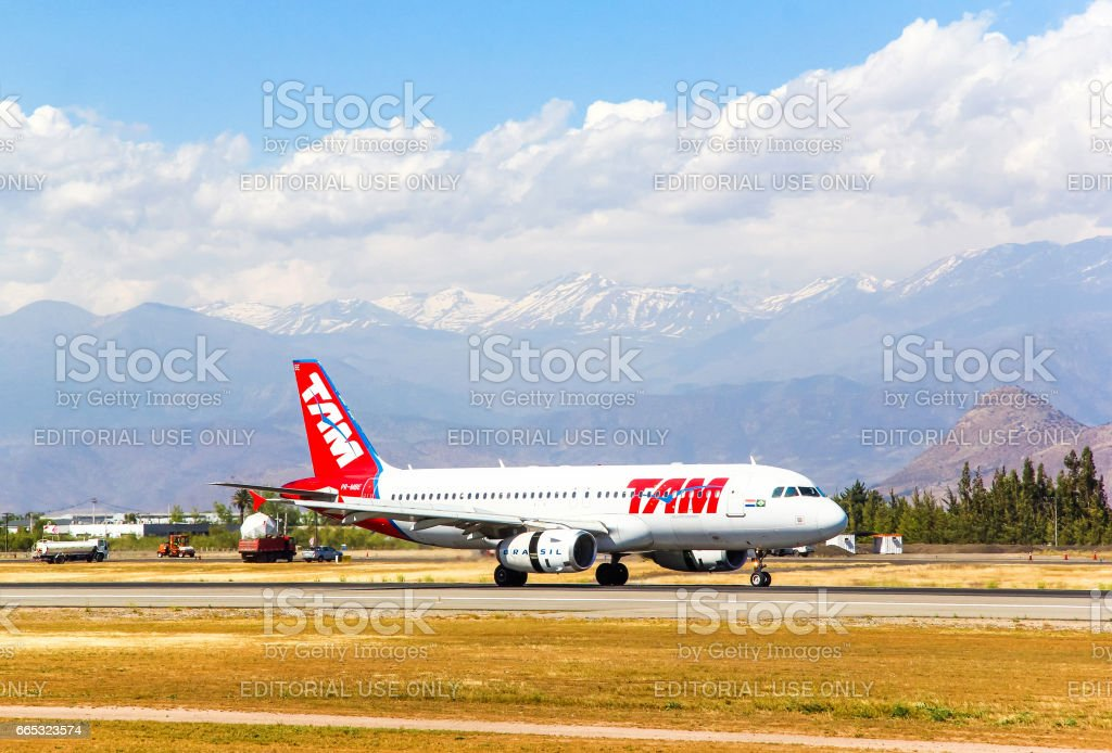 TAM Airlines Airbus A320 stock photo