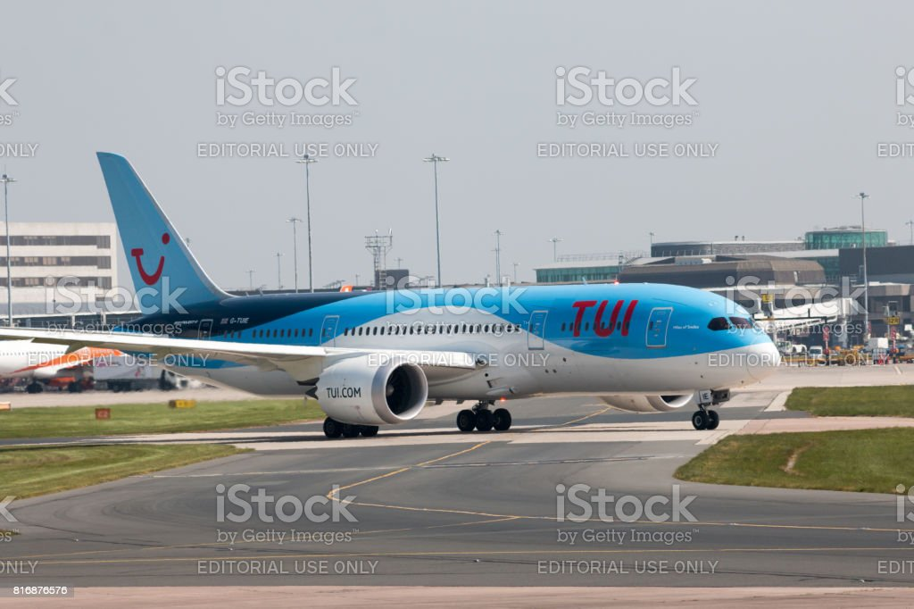 TUI Airlines Boeing 787 stock photo