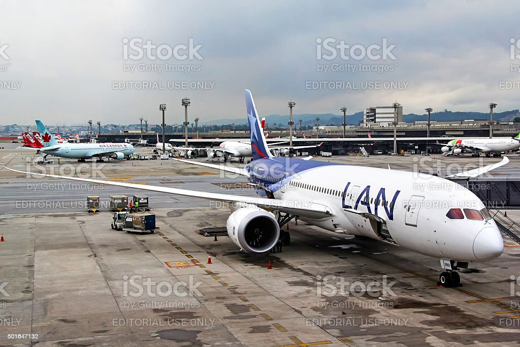 LAN Airlines Boeing 787-8 Dreamliner stock photo