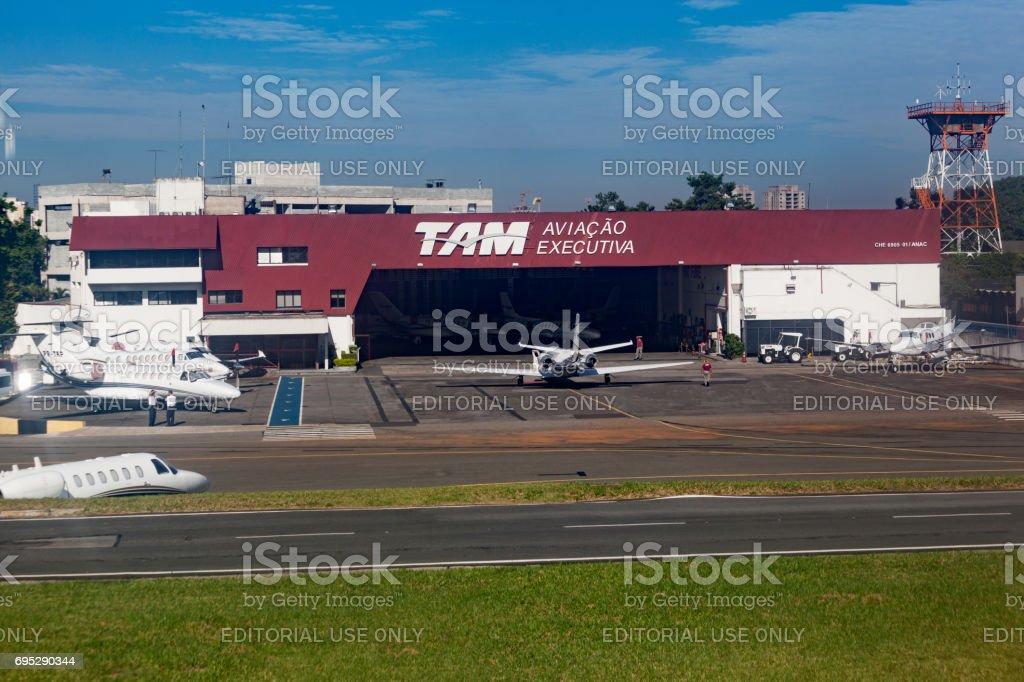 TAM Airlines Hangar de Congonhas são Paulo Brasil - foto de acervo