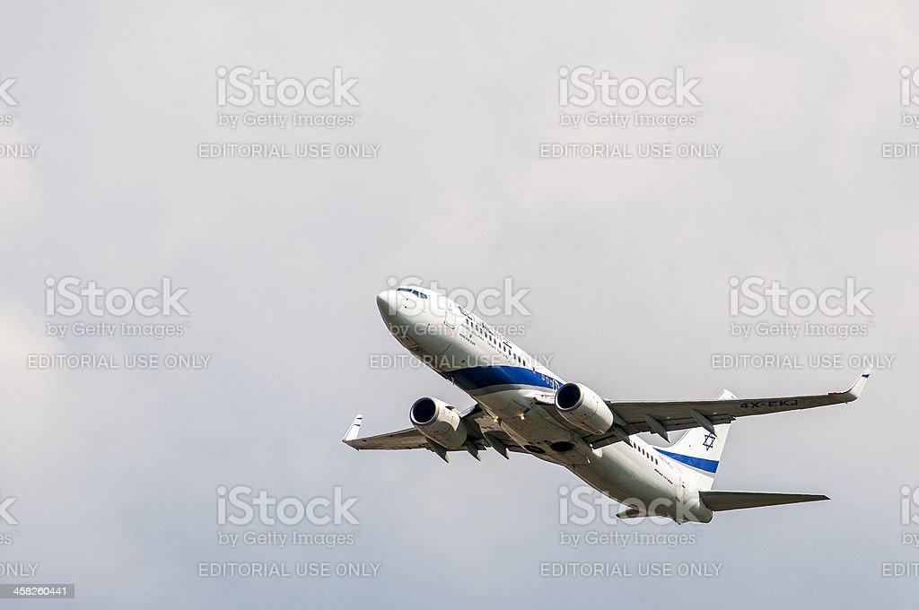 EL AL airlines plane taking off
