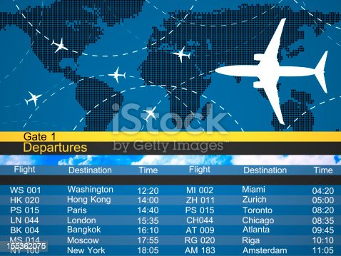 174936437 istock photo Airlines schedule and traffic graphic 155362075