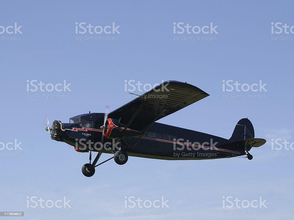 airmail airplane Stinson Trimotor royalty-free stock photo