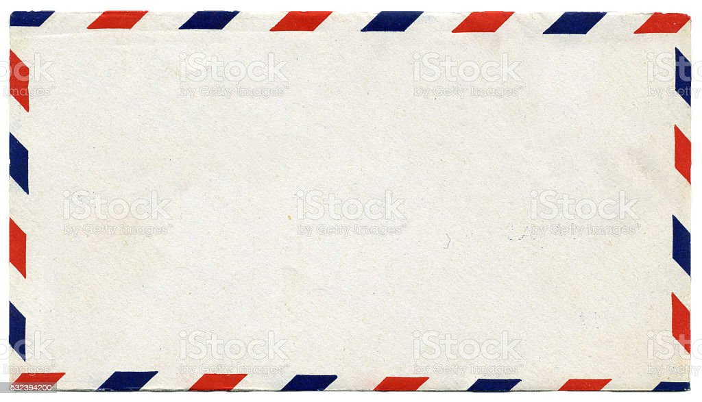 Airmail Envelope - Blank stock photo
