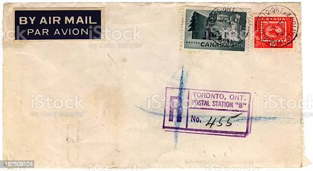 Airmail envelope from Canada 1954