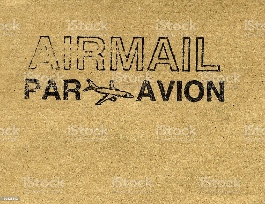 Airmail letter royalty-free stock photo