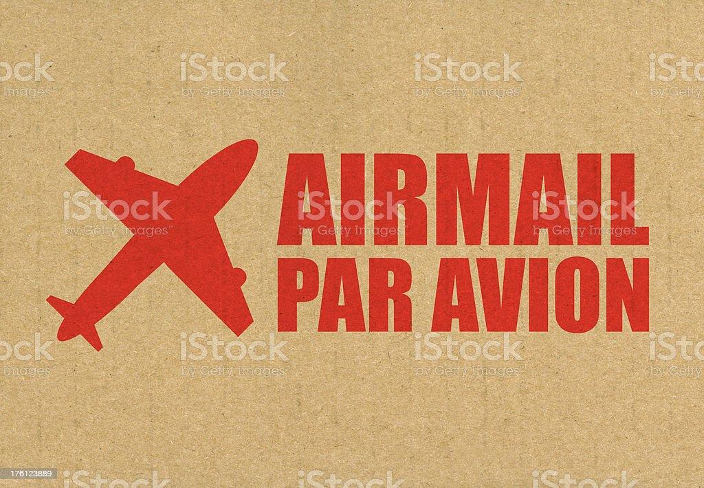 Airmail Par Avion royalty-free stock photo