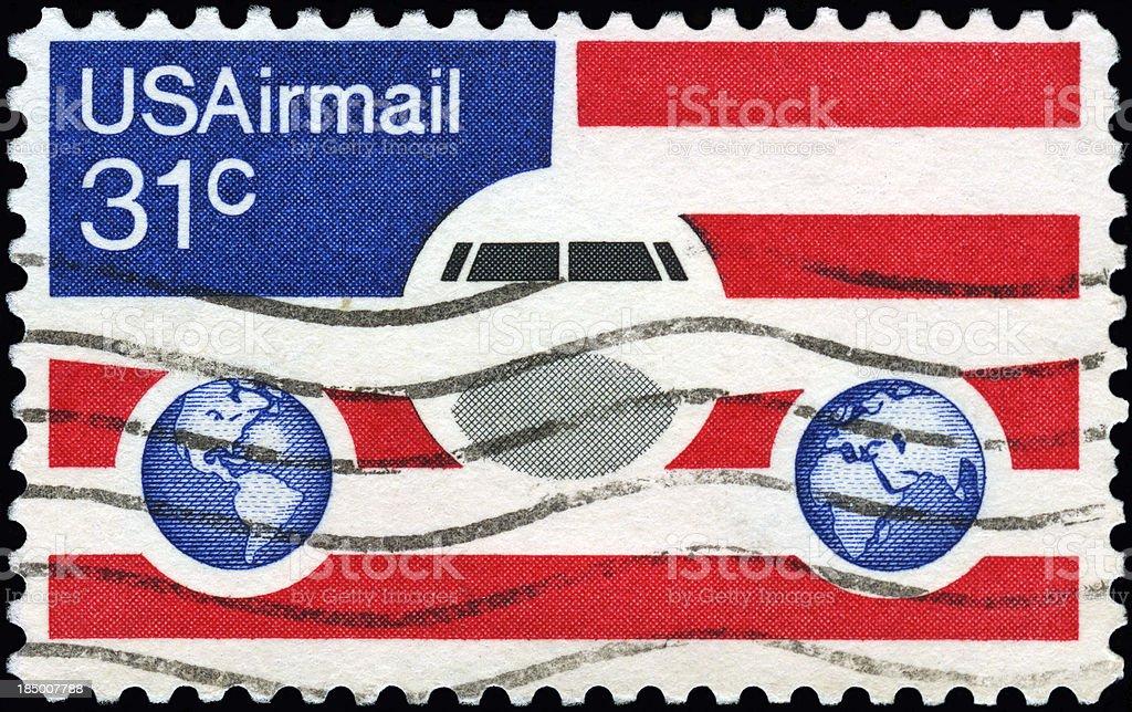 US Airmail royalty-free stock photo