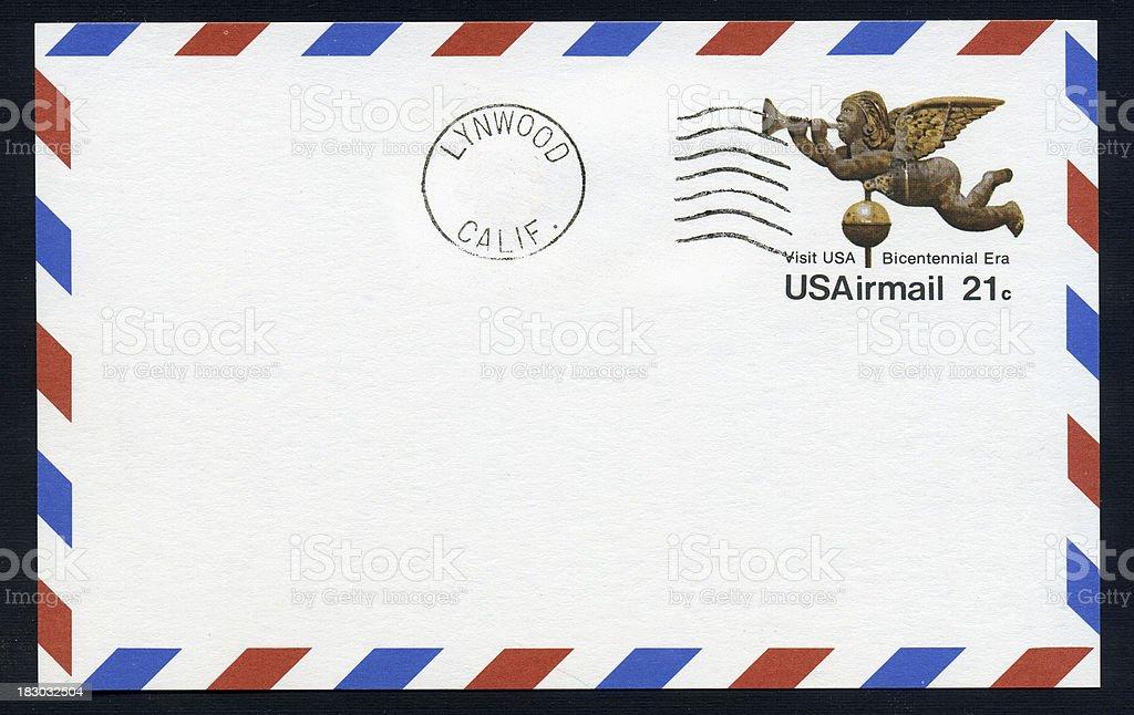 Airmail Postcard royalty-free stock photo
