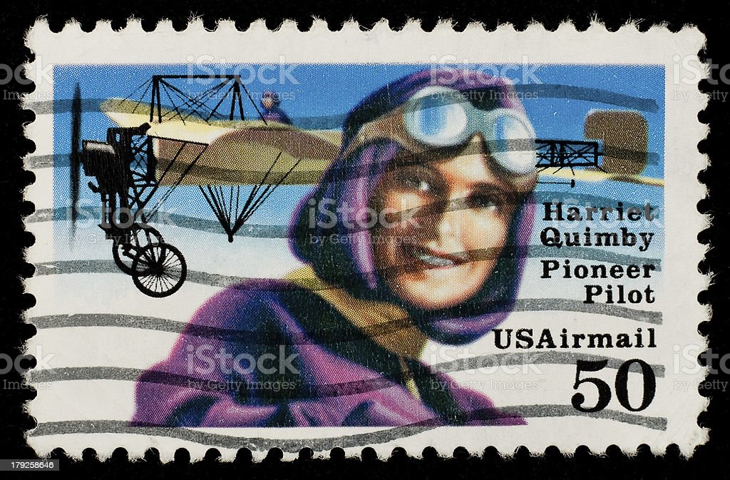 US Airmail stamp royalty-free stock photo