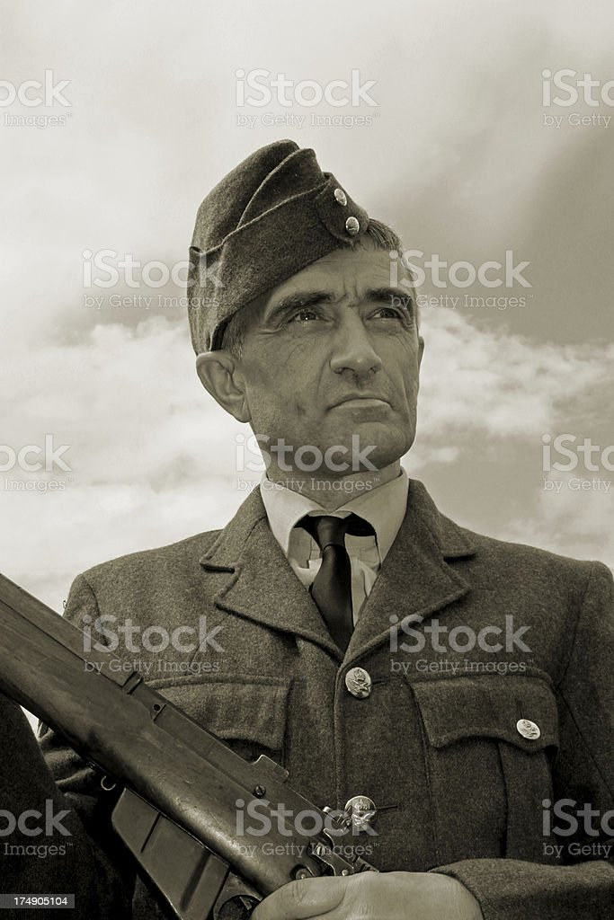 WW2 Airman. stock photo
