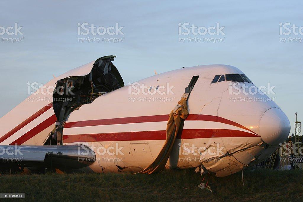 Airplance Crash stock photo