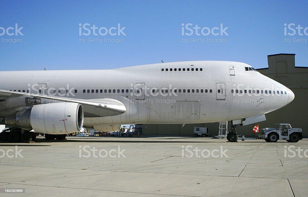 Airplane! 747 stock photo