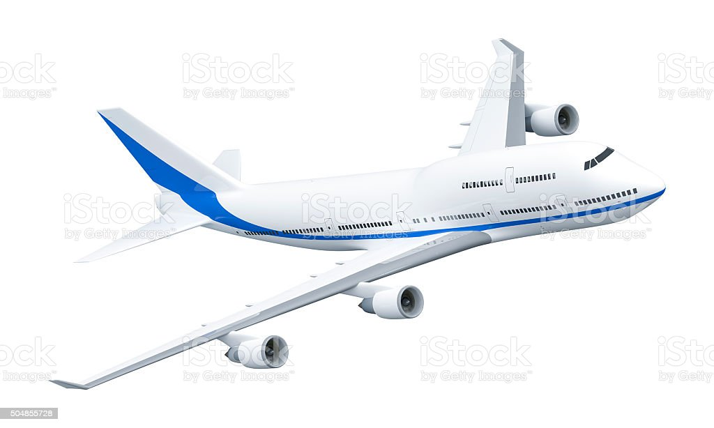 Airplane 747 stock photo