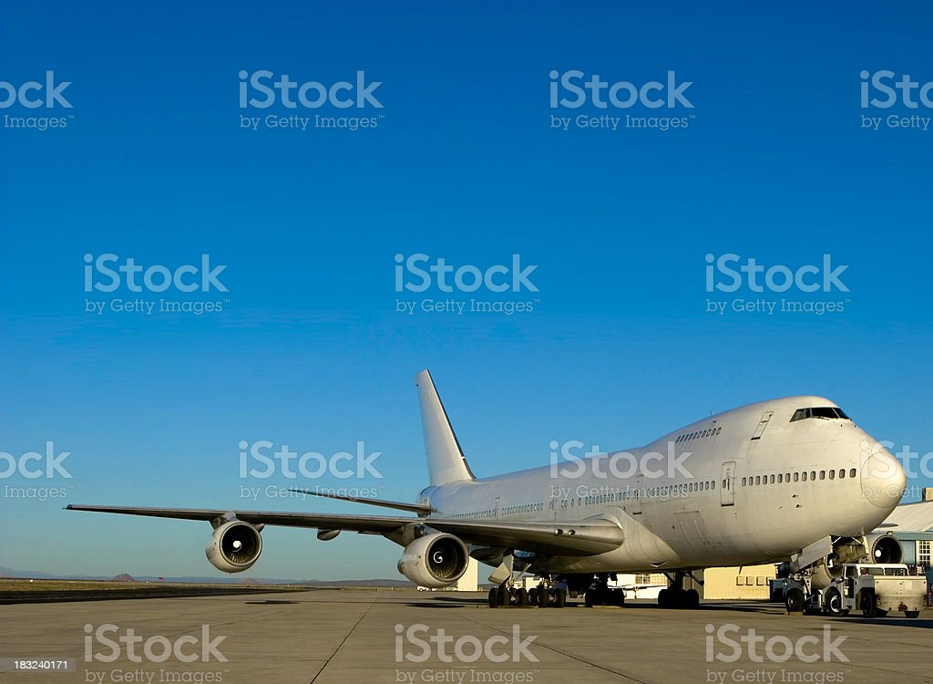 Airplane! 747-200 stock photo