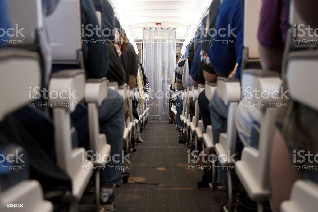Airplane Aisle stock photo