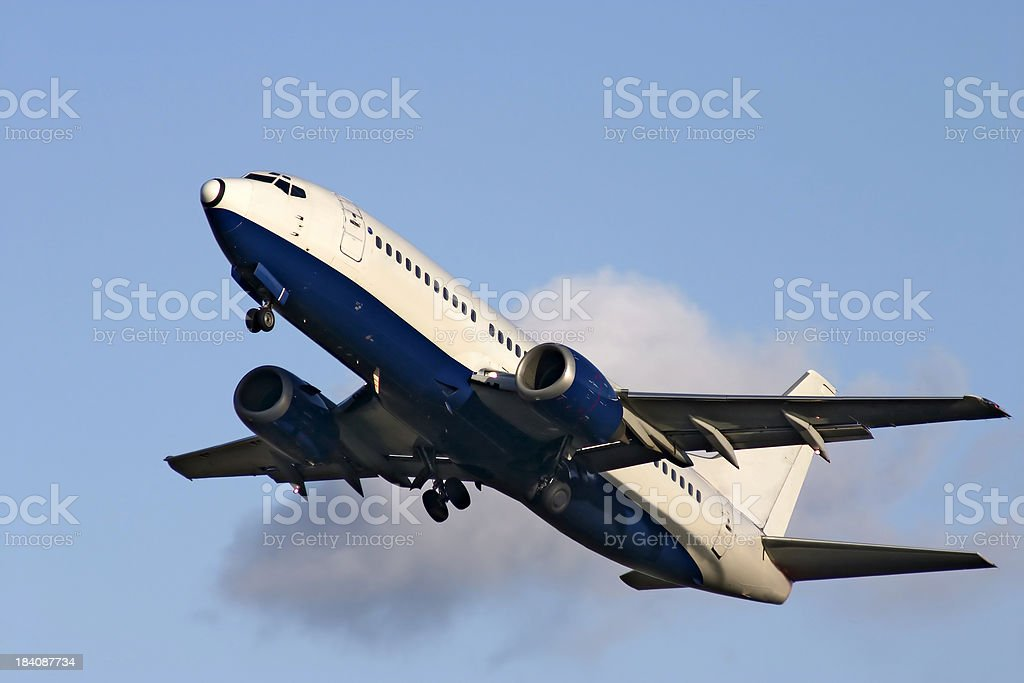 airplane and cloud stock photo