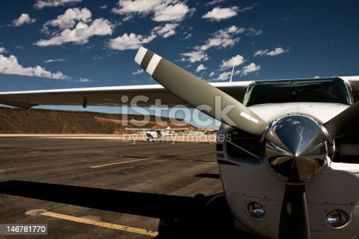 istock Airplane and clouds 146761770