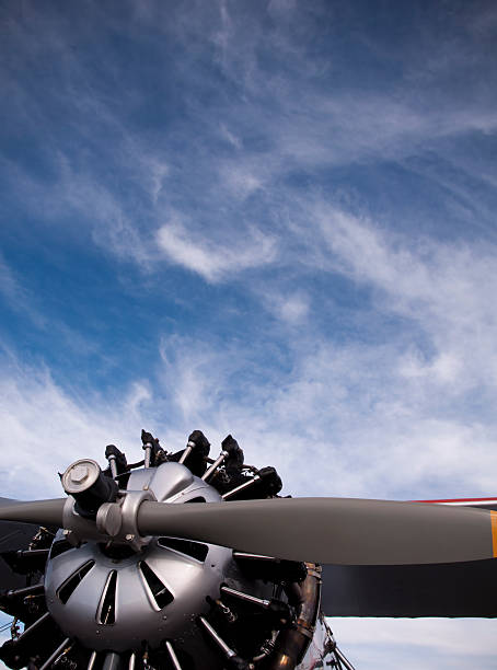 Airplane and Sky stock photo