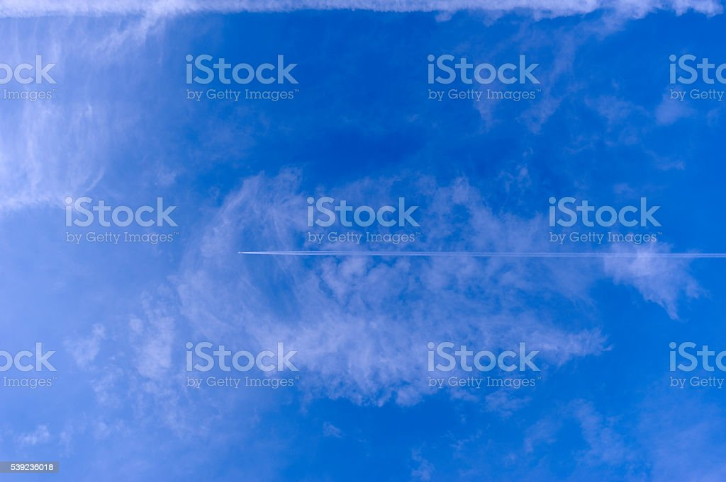 Airplane and sky royalty-free stock photo