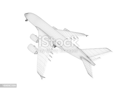 istock Airplane architecture Blueprint 169990399