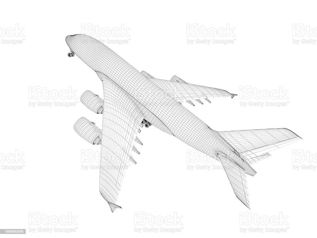 Airplane architecture Blueprint stock photo