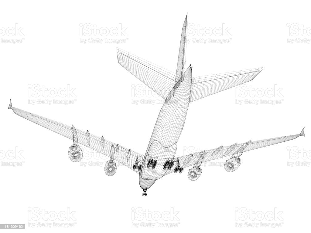Airplane architecture Blueprint royalty-free stock photo